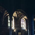 C13 Refectory of Benedictine Abbey Dijon France 198404300022  by Fred Mitchell