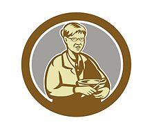 Granny Cook Mixing Bowl Oval Retro by patrimonio