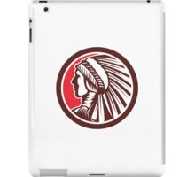 Native American Warrior Chief Circle iPad Case/Skin