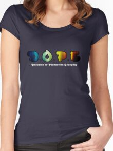 D.O.P.E. Dreaming Of Perfection Everyday Women's Fitted Scoop T-Shirt