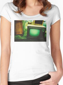 Video killed the radio star Women's Fitted Scoop T-Shirt