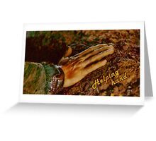 Helping hand Greeting Card