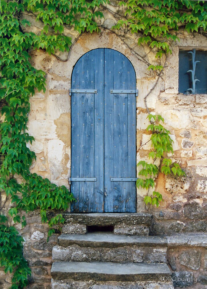 The old doorway in provence by 1000journeys redbubble for Open the door salon de provence