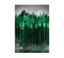 Misty Pines Art Print
