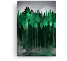 Misty Pines Canvas Print