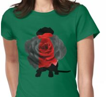 Dog in Summer Womens Fitted T-Shirt