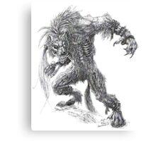 Shade - undead werewolf Canvas Print