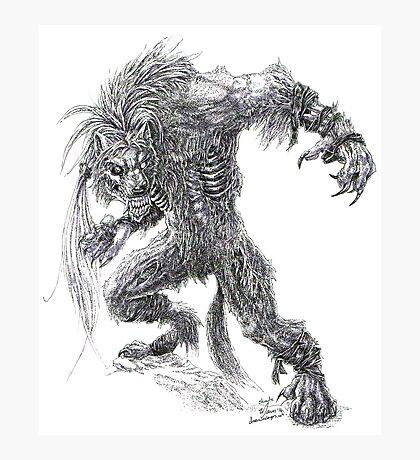 Shade - undead werewolf Photographic Print