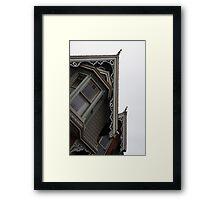 Gables and Dormer Windows - Cabbagetown Charm Framed Print