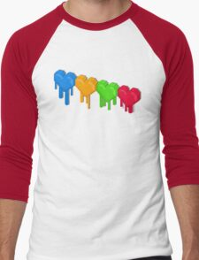 8-Bit Retro Love! Men's Baseball ¾ T-Shirt
