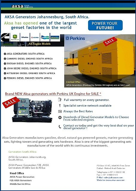 AKSA Generators with Perkins UK Engine by generatorsSA