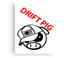 drift pig. JDM style Canvas Print