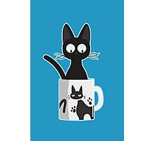 Cat In A Mug Photographic Print
