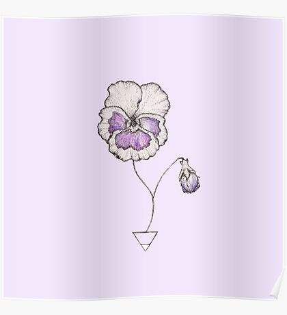 Earth Pansy Poster