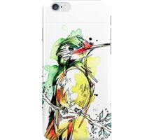 Lime-Feathered Hummingbird iPhone Case/Skin