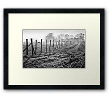 Equine Fence Framed Print