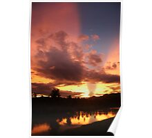 Reflected sunset (1) Poster