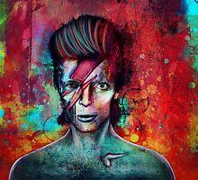 'Space Oddity' Bowie Illustration by Ian Jones