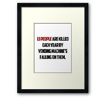 About 1/3 of American adults are at least 20% above their recommended weight. Framed Print