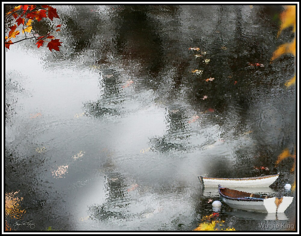 Red Maple, Grey Water by Wayne King