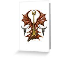 Vampir Guitar Digital Art Greeting Card