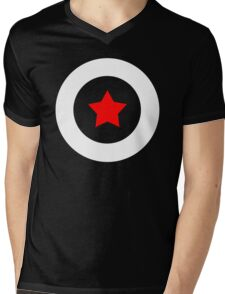 Shield T-Shirt Mens V-Neck T-Shirt
