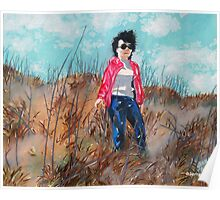 'MOM IN THE DUNES AT NAGSHEAD'  Poster