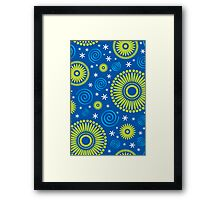 Pop! Blue & Green Framed Print