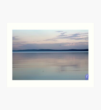 Sun Setting Over the Water Art Print