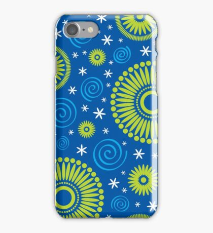 Pop! Blue & Green iPhone Case/Skin