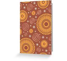 Pop! Brown & Orange Greeting Card
