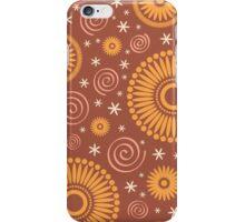 Pop! Brown & Orange iPhone Case/Skin