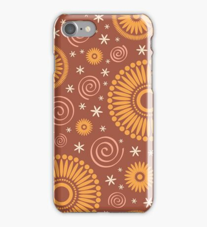 Pop! Brown & Orange iPhone Case/Skin