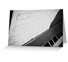 Debussy Sheet Music Greeting Card