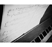 Debussy Sheet Music Photographic Print