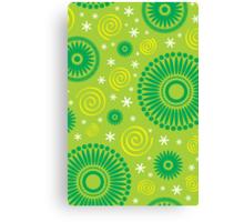 Pop! Green & Lime Canvas Print