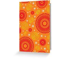 Pop! Orange & Bright Orange Greeting Card