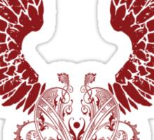 Red Angel Wings Sticker