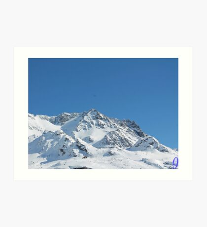 Snowy Mountain Peak Art Print