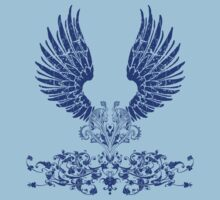 Blue Angel Wings Kids Clothes