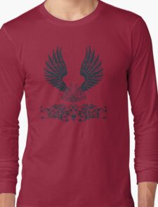 Black Angel Wings Long Sleeve T-Shirt