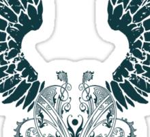 Black Angel Wings Sticker