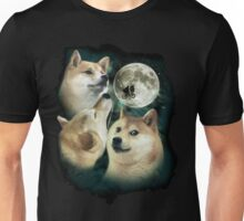 3 Moon Doges Unisex T-Shirt