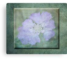 Misty Mauve 3D Flower Canvas Print