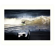 Bodyboarding Shore Brake Art Print