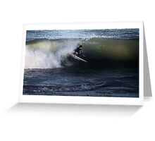 Surfing The Shore Brake Greeting Card