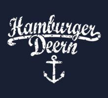 Hamburger Deern Classic Anker (Used Look) Weiß by theshirtshops