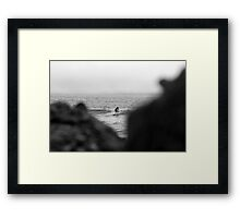 Surfers In The Mist Framed Print