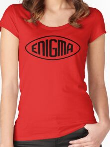 Enigma Machine Logo (Black) Women's Fitted Scoop T-Shirt