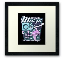 Medi-gel Advertisement Framed Print